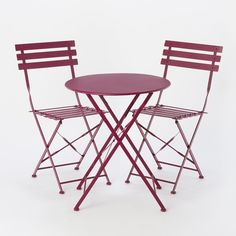 Painted Metal Bistro Table & Chairs at Terrain
