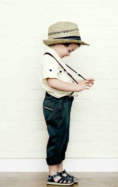 strawnhat + white shirt + suspenders = perfecction! <3 <3 <3