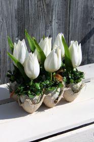 Ribon Flowers, Diy Osterschmuck, Diy Easter Decorations, Arts And Crafts, Garden, Plants, Home Decor, Google, Garten