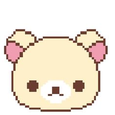 it's that bear! I forgot the name xD Gifs, Pixel Characters, Anime Pixel Art, Pixel Pattern, Png Icons, Kawaii Shop, Cute Icons, Animal Crossing, Cute Art