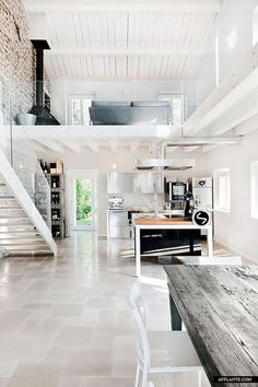 love how the white opens this duplex and illuminates the natural light.