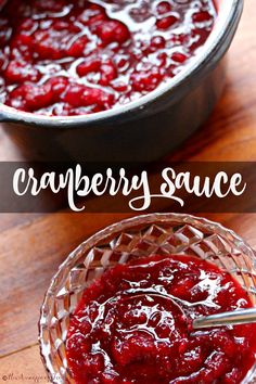 A easy recipe for cranberry sauce. Flavored with brown sugar, cloves and orange zest makes cranberry sauce the perfect pairing for your holiday turkey.