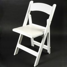 Resin folding chairs, perfect for weddings