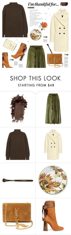 """I'm thankful for... (view description)"" by jesuisunlapin ❤ liked on Polyvore featuring Whistles, Victoria Beckham, Carven, Claudio Riaz, Williams-Sonoma, Chloé, Moleskine, Ox & Bull Trading Co., suede and metallic"