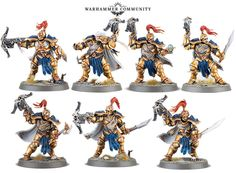 A new selection of Stormcast Eternal models popped up from Games Workshop forming the scouting force for a larger army. See what you make of the Vanguard Hunters and their Gryph Hounds for Age Of Sigmar. Warhammer 40k Figures, Warhammer Aos, Warhammer Fantasy, Warhammer 40000, Stormcast Eternals, Fantasy Model, 28mm Miniatures, Fantasy Battle, Game Workshop