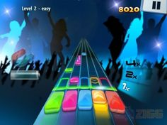 Catch The Tune - Jogo estilo Guitar Hero para acertar as cores e tocar a música