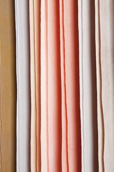 Raw Color project. Silks designed for Raw Textiles exhibit. Gradations of color. Dyes extracted from vegetables. Extensive documentation of project on Raw Color website. Really LOVE this project!