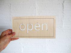 OPEN SIGN laser cut,
