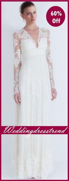 Women Love Fashion Party Wedding Dresses http://www.weddingdresstrend.com/en/vintage-sheath-v-neck-lace-wedding-dress.html