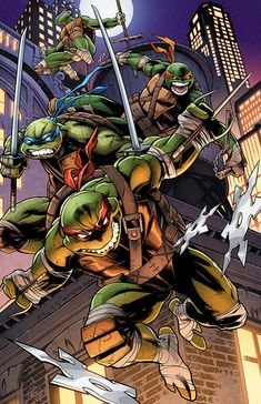 BROTHERTEDD.COM - thecomicninja: Teenage Mutant Ninja Turtles by... Teenage Ninja Turtles, Ninja Turtles Art, Ninja Turtle Tattoos, Arte Dc Comics, Tmnt Comics, Turtle Painting, Poster Designs, Comic Art, Concept Art