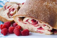 Raspberry White Chocolate Swirl Bread