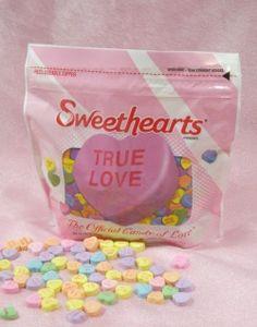 """画像1: 再入荷!!NECCO """"Sweethearts""""  Candy Hearts 袋入り"""