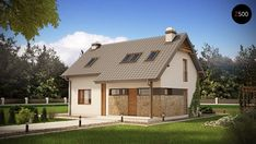 PROJECT DESCRIPTION is a compact house with an attic. A simple body covered with a gable roof conceals a functional utility space for a family of pe. Compact House, Home Fashion, Shed, Outdoor Structures, Mansions, House Styles, Home Decor, Design Interior, Attic