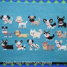 Gera! by Kyoko Maruoka - 15 Dog breeds zoom 3 (cross stitch chart)