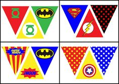 - Oh My Fiesta! for Geeks - Superheroes: Free Printable Bunting. – Oh My Fiesta! for Geeks Avengers Birthday, Superhero Birthday Party, Boy Birthday, Avenger Party, Super Hero Banner, Superhero Classroom Theme, Birthday Bunting, Batman Party, Party Themes