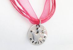 Little Girl Name Necklace with Princess Crown, Cross, Heart, Other Charm - Birthday Gift for Girls - Personalized Little Girl Jewelry