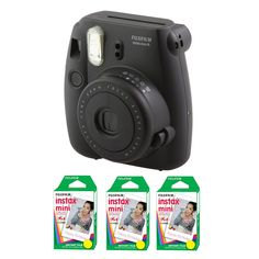 Fujifilm FU64-MIN8BKK60 INSTAX MINI 8 Camera and Film Kit with 60 Exposures (Black) * Want to know more, click on the image. (This is an Amazon Affiliate link and I receive a commission for the sales)