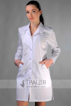 "Медицинский халат ""Балтийский"" Scrubs Outfit, Scrubs Uniform, Medical Uniforms, Work Uniforms, Scientist Costume, Doctor Coat, Blouse Nylon, Lab Coats, Nurse Costume"