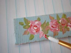 How to paint shabby chic roses on plaques
