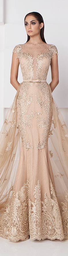 Saiid Kobeisy SS 2016 Gorgeous but close up the middle if not lined. Elegant Dresses, Pretty Dresses, Naeem Khan, Gowns Of Elegance, Christopher Kane, Couture Dresses, Beautiful Gowns, Dream Dress, Designer Dresses