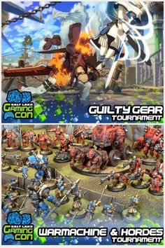 We will be having a lot of tournaments at #SLGC17! Click the picture for more info!  #gaming #gaming con #guiltygear #warmachineandhordes #videogames #tabletopgames