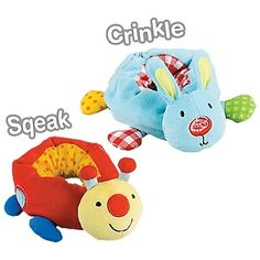 Soft rattles for hands AND feet - babies will love the sounds & reaching & grabbing for them!: