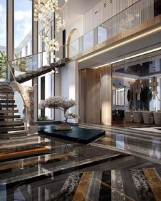 Home Stairs Design, Modern House Design, Modern Entryway, House Stairs, Luxury Interior Design, Home Fashion, Luxury Homes, Luxury Life, Architecture Design