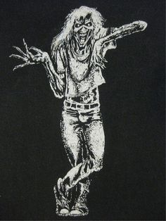 - Eddie of IRON MAIDEN vintage 80s SHIRT design. #eddie #ironmaiden #artwork #musicart http://www.pinterest.com/TheHitman14/eddie-of-iron-maiden-fame/