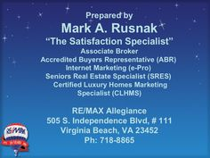 How to decide when to Sell – A SRES Presentation by RE/MAX Allegiance via Slideshare