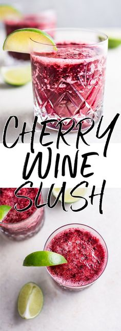 This cherry moscato slush is a refreshing 2-ingredient drink that you can blend up in a flash. A delicious grown-up drink that's ready in 2 minutes!