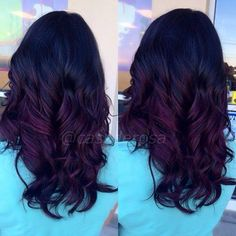 violet red ombre