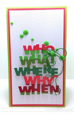 Created by Kathy Racoosin using the Kelly Purkey Festive Release by Simon Says Stamp.  November 2013