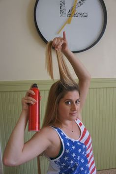 "Beer Cans As Hair Rollers: Think ""Lady Gaga"" in telephone.only trashier.This is a great look for a Halloween costume, any America themed party, or Bay to Breakers (as I most recently sported). It is super easy to do and gives BIG results!"