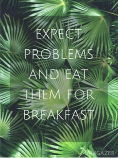 Motivational quote | Expect problems and eat them for breakfast.