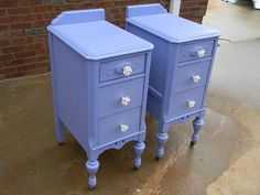 Funky Nightstands 1930's vanity turned into french nightstands   nightstands and