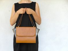 DU PELLI Ali di tabacco - handmade leather bag