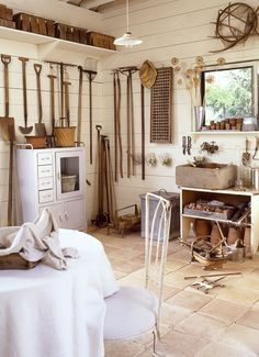 Former Country Living Garden Editor, James Cramer, built the perfect garden shed to house his vintage tools that he uses to cultivate his one acre garden