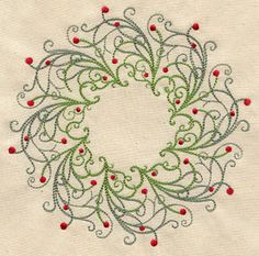 Filigree Wreath | Urban Threads: Unique and Awesome Embroidery Designs