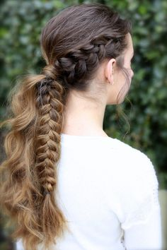 Viking Braid Ponytail #hairstyles #CuteGirlsHairstyles #CuteGirlHair #hairstyle #braid #braids #boho #DIY #coachella