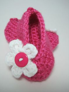 Baby Girl Shoes Crochet Flats Ballerina Slippers by CreationsIvy, $12.99