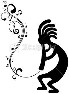 Kokopelli Silhouette Royalty Free Stock Vector Art Illustration
