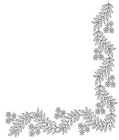 Embroidery Border - Floral Border
