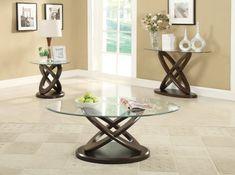 3F7702788PG   Espresso Glass Coffee Table   Furniture2Go