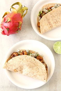 Fajita-Spiced Shrimp Tacos With Dragon Fruit Salsa