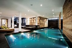 indoor pool - if ever... this would be my heaven.  i could live in water, quite literally. and to have it a constant option... heaven.