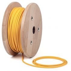 MUSTARD YELLOW Textile Cable | ROUND Lighting Flex – Cablelovers