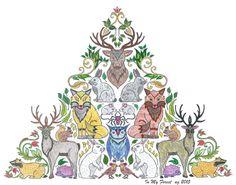 In My Forest AnimalColor InspirationEnchantedColoringWILDLIFENice