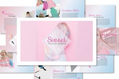 Sweet Powerpoint Template by dirtylinestudio on Envato Elements Professional Powerpoint Templates, Creative Powerpoint Templates, Powerpoint Presentation Templates, Keynote Template, Envato Elements, Great Presentations, Corporate Presentation, Slide Design, Flyer Design