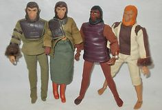 planet of the apes dolls   Vintage-Lot-4-Planet-of-the-Apes-Action-Figures-Dolls-Toys-by-Mego-w ...