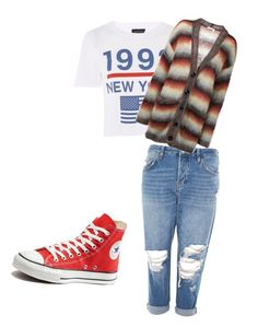 """Untitled #2"" by burnttoasts ❤ liked on Polyvore featuring Topshop, Converse and Chloé"